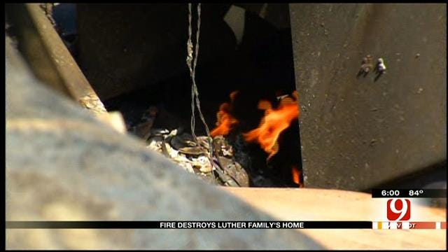Family Narrowly Escapes Luther Fire, In Need Of Help