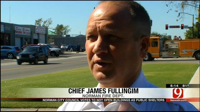 Norman Fire Chief Responds To Council's Public Shelter Vote