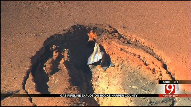 Resident Describes Gas Line Explosion In Harper County
