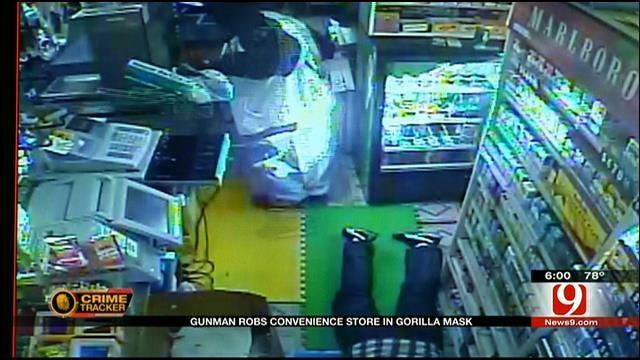 Police: Man Wearing Gorilla Mask Robs OKC Store At Gunpoint