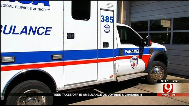 Teen Steals, Crashes Ambulance In Southwest OKC