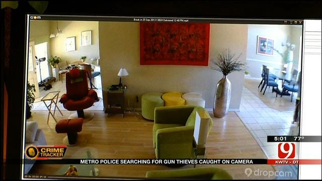 OKC Homeowner Catches Gun-Stealing Thieves On Camera