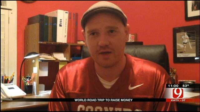 UK Man Stops In Oklahoma During World Road Trip To Raise Money