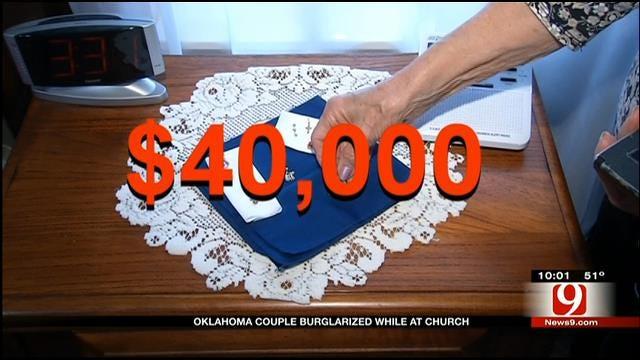 Burglars Steal $40K In Jewelry From Elderly OKC Couple