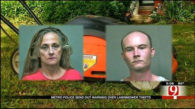 Mother-Son Duo Accused Of Stealing Lawn Mowers In OKC