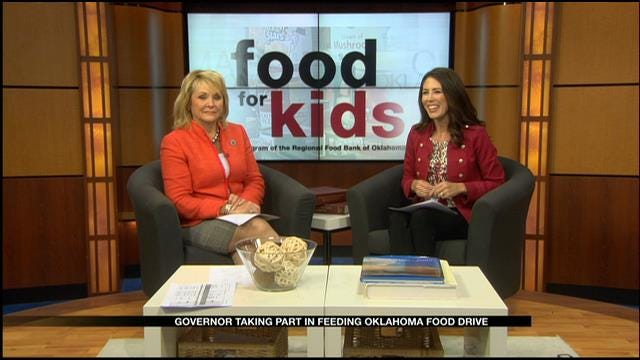 Governor Taking part In Feeding Oklahoma Food Drive