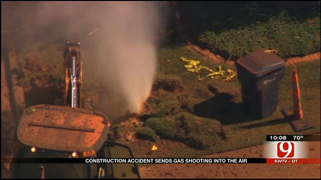 Neighbors Respond To Large Gas Leak In NW OKC