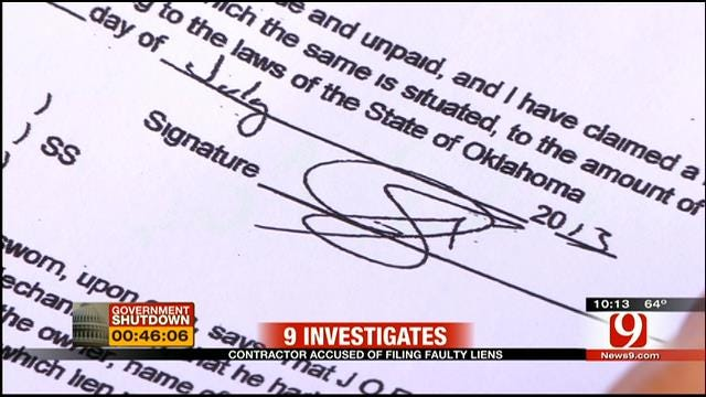Oklahoma Contractor Accused Of Filing Faulty Liens