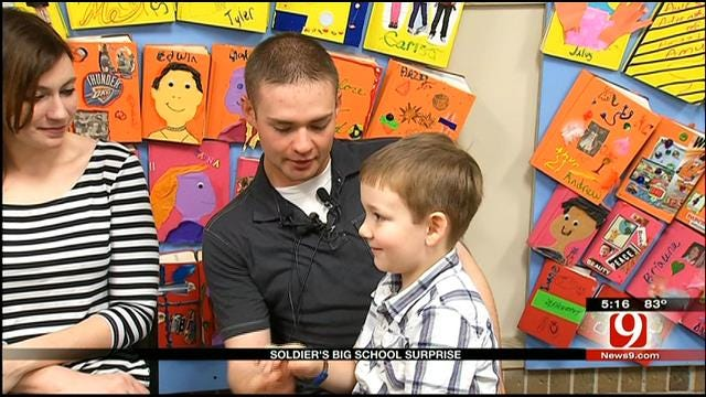 Oklahoma Soldier Surprises Son After Afghanistan Deployment