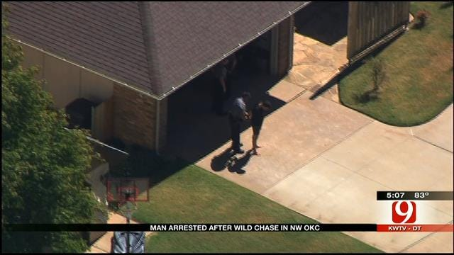 Suspect Arrested After Wild Chase In Northwest OKC
