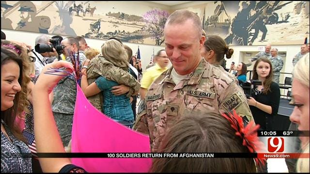 Homecoming Ceremony Held For 1245th Transportation Company