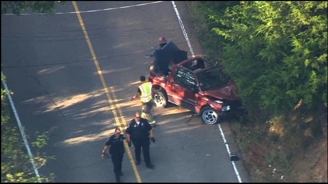 SkyNews 9 Flies Over Injury Accident Involving Child Near Choctaw