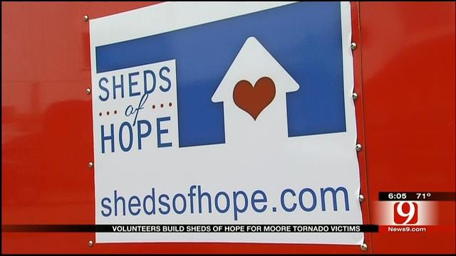 Sheds For Hope Group Offers Helping Hand To Tornado Victims