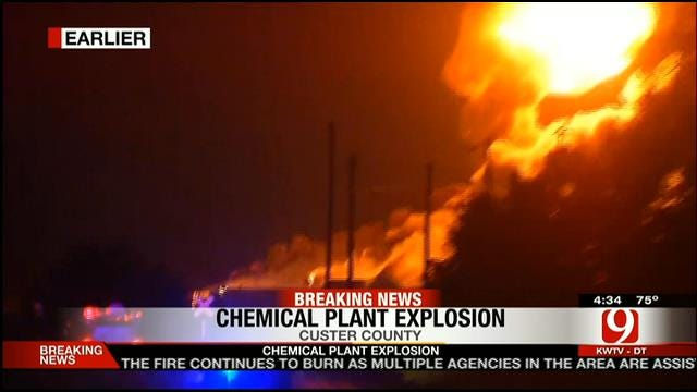 Fire, Explosions At Danlin Chemical Plant In Thomas