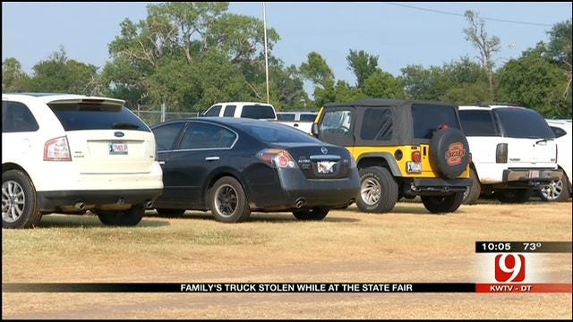 Thieves Swipe Family's Truck At Oklahoma State Fair