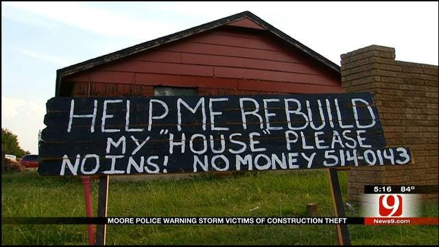 Construction Thefts Increase In Moore As Tornado Victims Rebuild