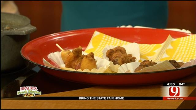 State Fair Bacon Wrapped Corny Dogs