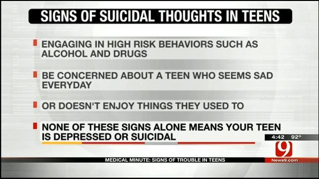 Medical Minute: Signs Of Trouble In Teens