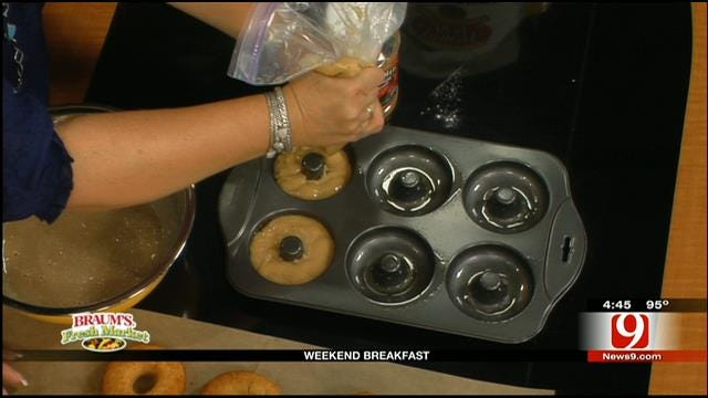 Applesauce Donuts With Maple Glaze