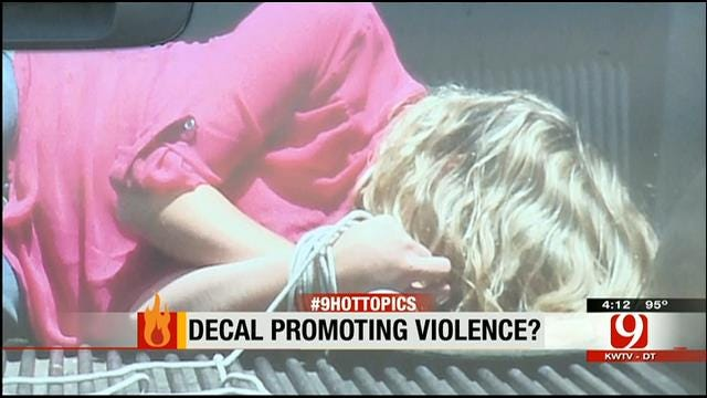 Hot Topics: Decal Promoting Violence?