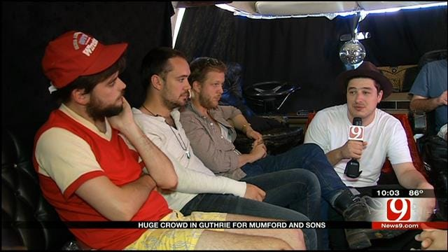 News 9 Sits Down With Mumford & Sons Before They Rock Guthrie