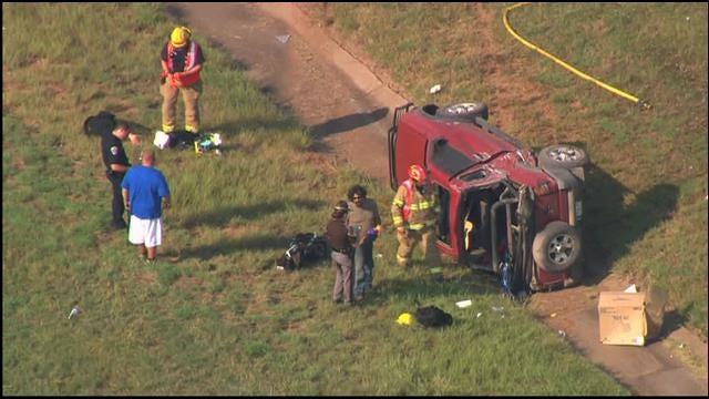 WEB EXTRA: SkyNews 9 Flies Over Crash In Edmond