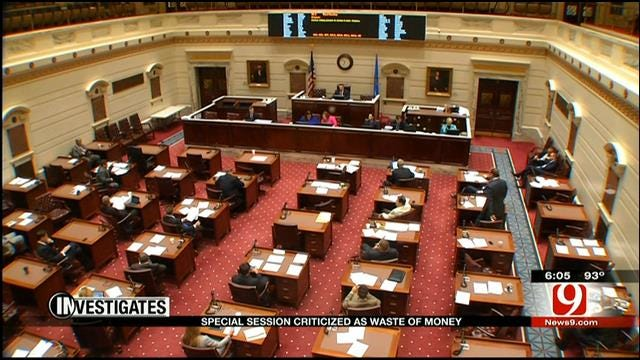 Special Session Costing Taxpayers Thousands