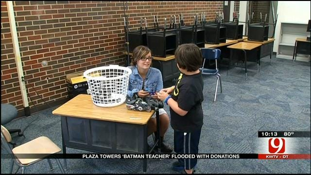 Batman Donations Pour In For Plaza Towers Teacher, Students