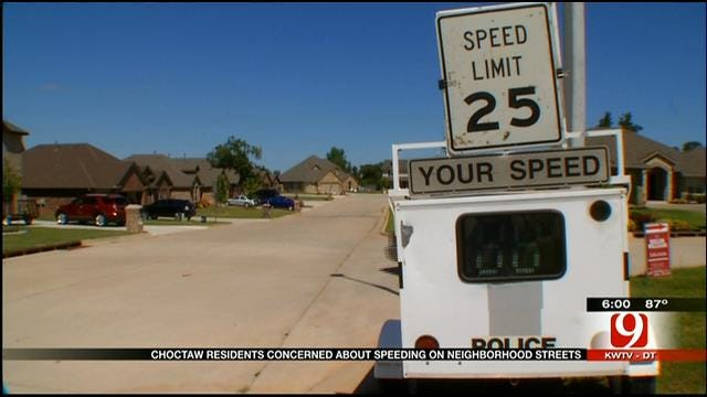 Residents In Choctaw Neighborhood Concerned Over Speeders