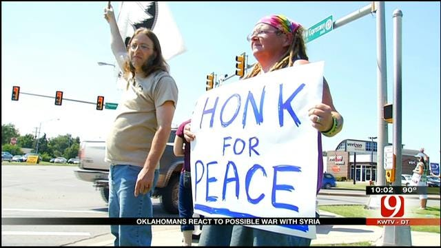 Protesters In OKC Show Opposition To US, Syrian Involvement