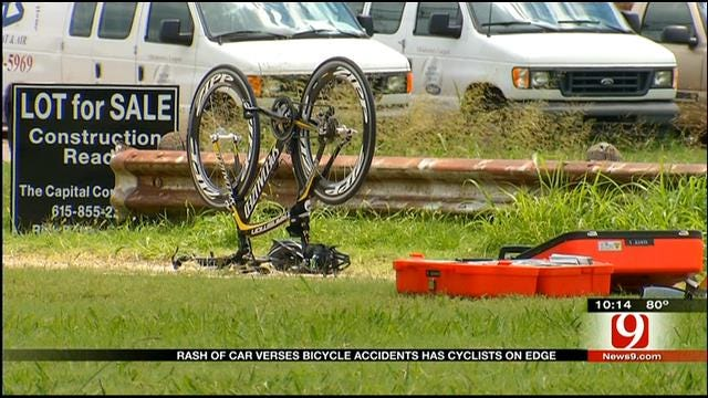 String Of Bicycle Accidents Has OKC Cyclists On High Alert