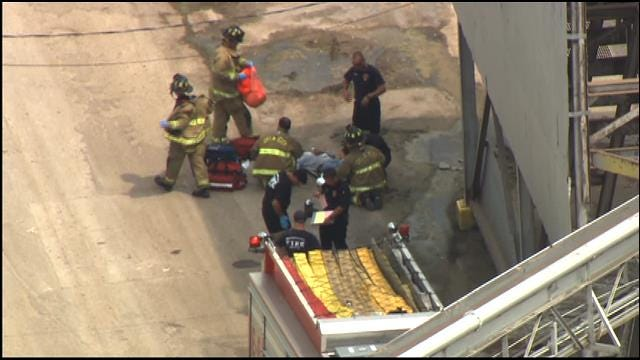 WEB EXTRA: SkyNews 9 Flies Over Industrial Accident In SE OKC