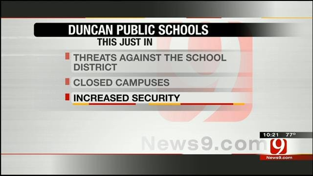 Duncan Public Schools To Increase Security After Receiving Threats