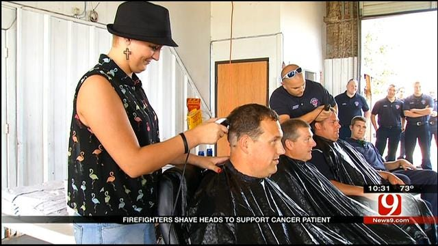 Newcastle Firefighters Shave Heads To Support Girl Battling Disease
