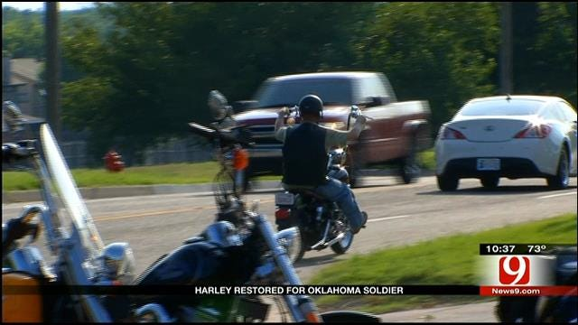 Harley Restored For Oklahoma Soldier