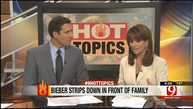 Hot Topics: Bieber Strips Down In Front Of Grandma