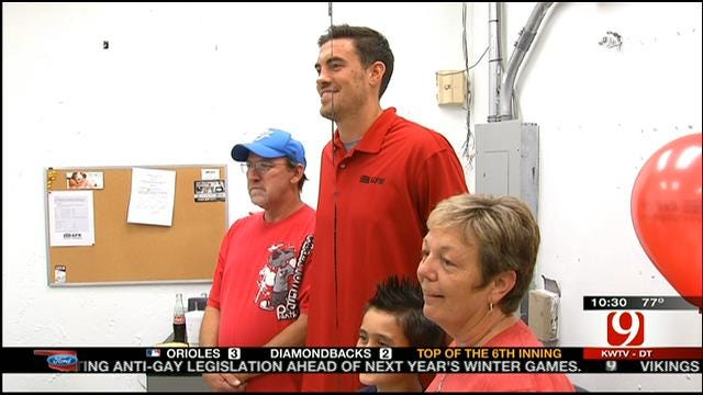 Thunder's Collison Helps Lift Spirits Of Moore Family