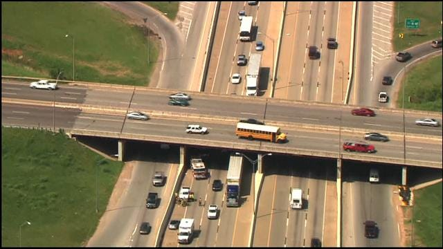WEB EXTRA: Rollover Accident Backs Up I-35 In SE OKC