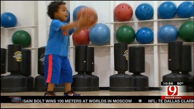 4-Year-Old Edmond Basketball Phenom Drawing Attention
