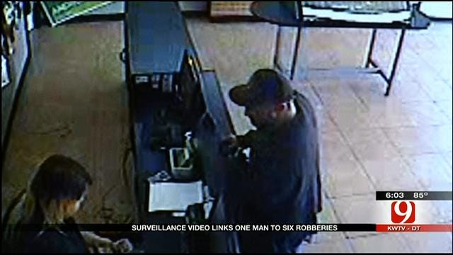 OKC Police Release New Footage Of Man Suspected In 6 Robberies