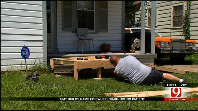 OKC EMSA Paramedic Builds Wheelchair Ramp For Former Patient