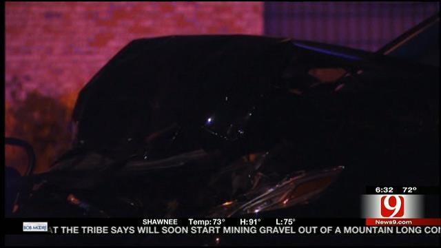Suspect Crashes Into OKC Police Car