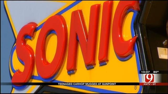 Police: OKC Sonic Carhop Mugged At Gunpoint, Tips Stolen
