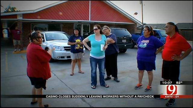 OK Casino Closes Suddenly, Leaving Workers Without Paychecks