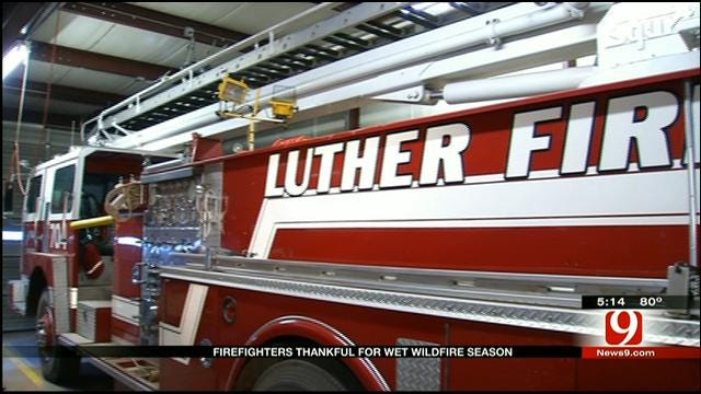 Luther Firefighters Thankful For Wet Summer Conditions