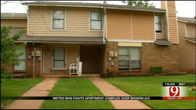 Resident At OKC Apartment Says Management Won't Repair A/C