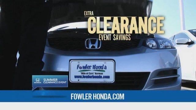 Fowler Honda: Clearance Event