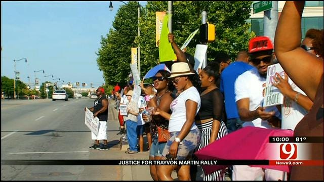 'Justice For Trayvon Martin' Rally Held In Bricktown