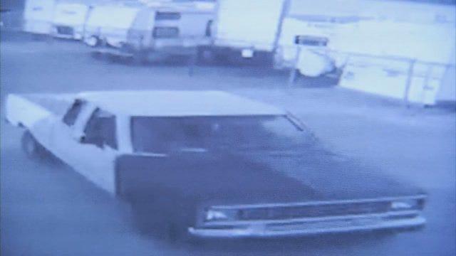 WEB EXTRA: Surveillance Footage Of Burglars Striking Moore Storage Facility