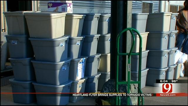 Heartland Flyer Brings Loads Of Supplies To Oklahoma Tornado Victims